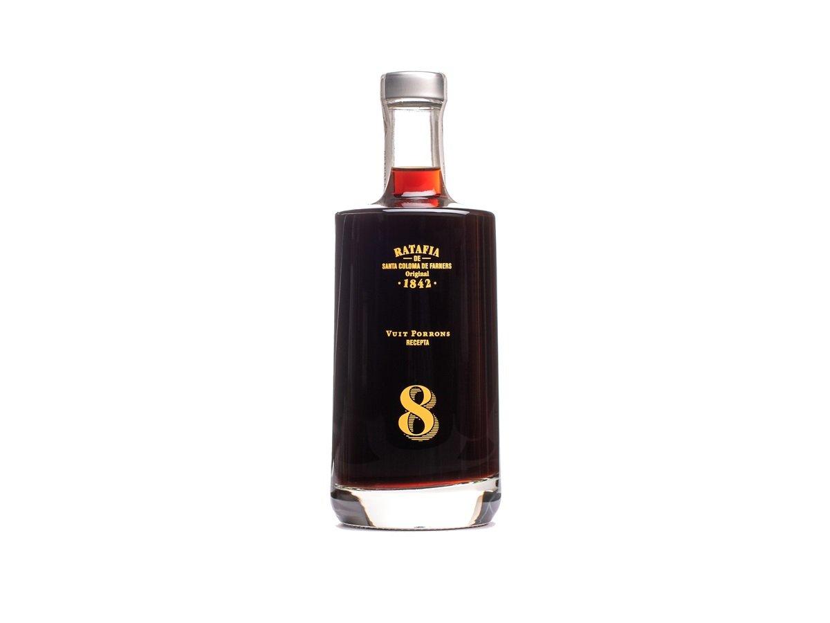 Ratafia 1842 vuit porrons, Francesc Rosquellas , confraria de la ratafia santa coloma de farners